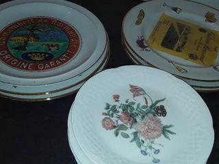 6 lIMOGE Plates and 5 ROSANNA Plates