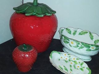 STRAWBERRY COOKIE JAR and other Items