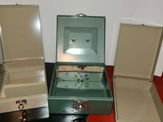 Assorted metal boxes