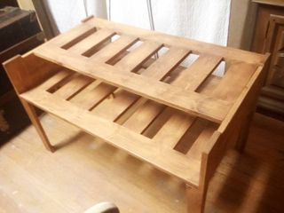 Wood 2 Tier Plant Stand 24 x 38 x 23 in