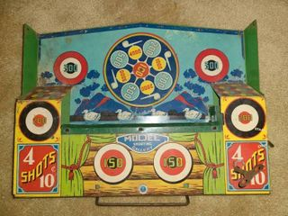 ANTIQUE WIND UP MODEl  SHOOTING GAllERY