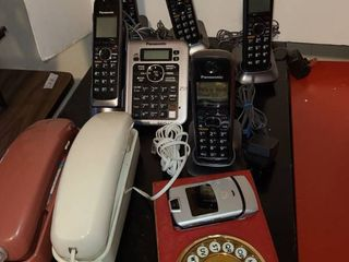Assorted corded and cordless phones