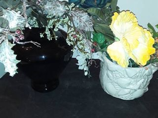 2 Floral Arrangements  One is Black and the other is white
