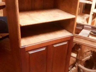 Wood Cabinet with lower Storage with Side Access 50 x 24 x 14 in