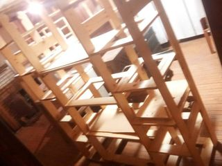 Wood Shelves Approximately 74 x 59 x 19 in