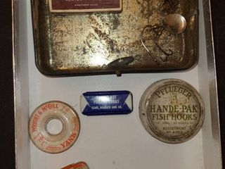 ANTIQUE FISHING HOOKS  and Miscellaneous boxes