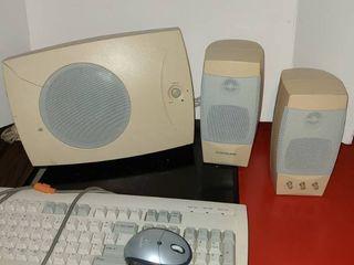 speakers and keyboard