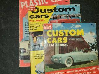 3 MOTOR TREND MAGAZINES  1954 1955