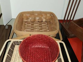 Assorted Baskets and boxes