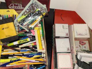 Miscellaneous Note pads  pens pencils  etc
