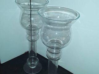 2 EXTRA lARGE SASAKI DRINKING GlASSES Approximately 14  tall