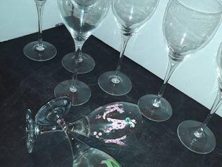 8 pcs  wine glasses