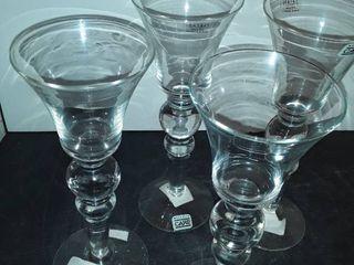 Set of 4 SASAKI Crystal Glasses
