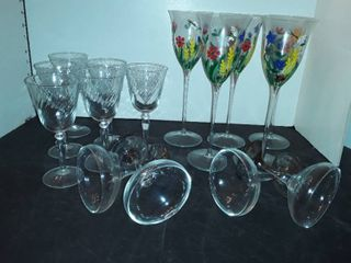 14 Miscellaneous Wine Glasses