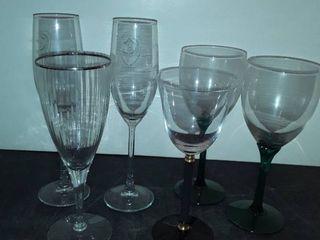 6 Miscellaneous Wine Glasses