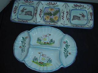 DANNA DESIGNS  2 Easter Relish Plates