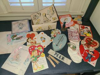 Vintage new baby and Valentine s cards
