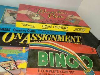 4 ANTIQUE BOARD GAMES