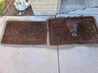 Outdoor mats lot of 2