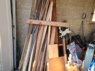 Scrap wood trim pieces