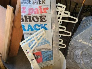 Space saver shoe racks