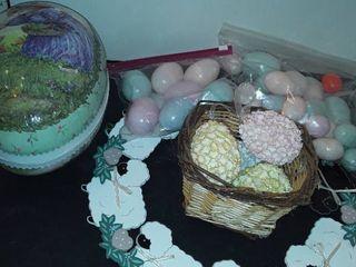 EASTER DECOR  Wreath  Eggs  eggs  and etc