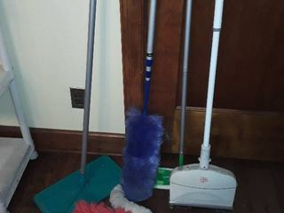 MISCEllANEOUS ClEANING ITEMS  Dusters  Swiffer  Dirt Devil Electric Broom