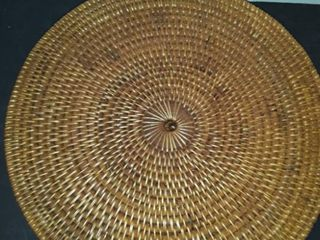 7 Wicker Chargers  Approximately 15 5
