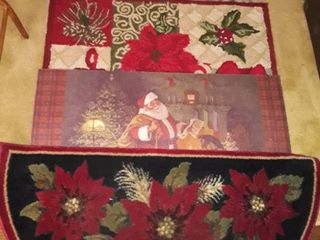CHRISTMAS RUGS  See pictures for Sizes