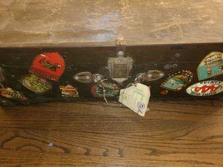 Old Metal Suitcase  15  x 28  x 8