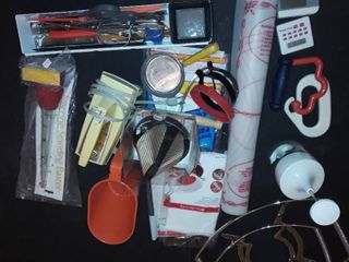 Assorted utensils and baking items