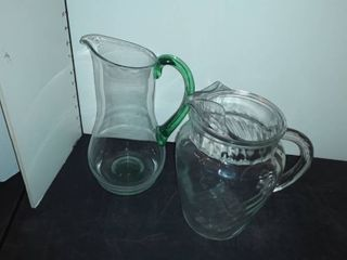 2 Glass Pitchers