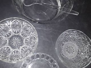 Salad Bowl with tongs  Salad Plate and 2 other bowls