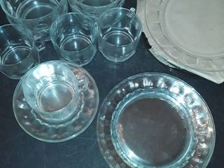 Dinner Service for 4  Plates  Salad Plares  Dessert Plates  Bowls Cups and Saucers