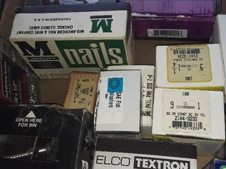 lot of Miscellaneous Screws  Nails and etc