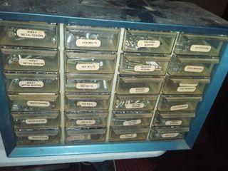 24 drawer Storage Bin plus Contents