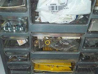 13 drawer Storage Bin  Plus Contents