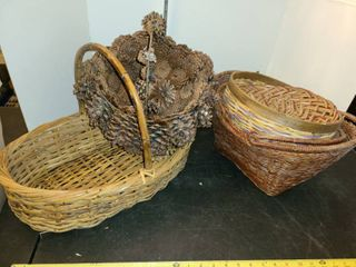WICKER BASKETS  1 is made from Pine Cones