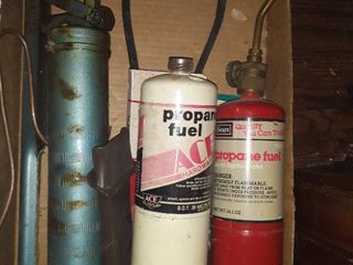 Propane fuel torch with grease gun