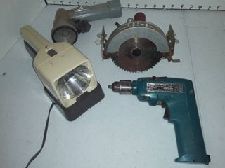 Arco saw with Makita 10 mm cordless reversible drill