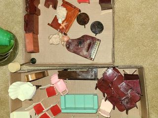 ANTIQUE Toy Doll House Accessories