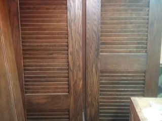 Two Wood Shutters