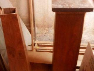 scrap wood and wood rack