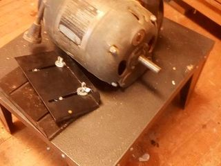 half hp capacitor motor with metal stand