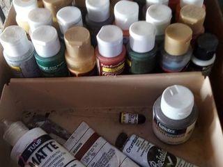 assorted acrylic paints