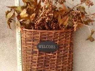 welcome basket door decor