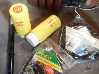 Spenco bicycle seat covers with tennis ball saver cans and weights