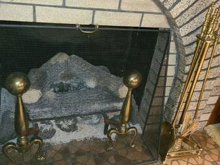 Fireplace Tools and Fireplace Screen  Screen and tools only