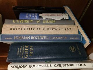 Norman Rockwell Books with WSU Yearbooks