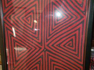 Framed Ethnographic Art 21 x 16 in